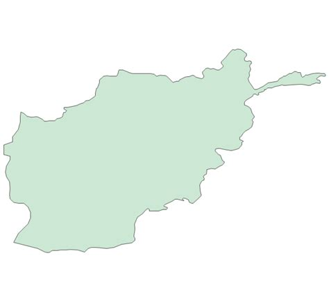 Afghanistan Country Map Outline by Afghanistan Map Outline Vector