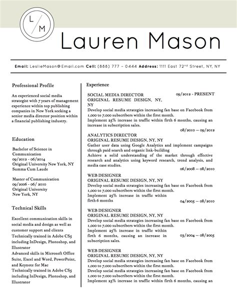 lauren mason resume template stand out shop lauren mason resume template stand out shop