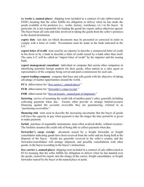 Letter Of Credit Evergreen Clause international trade glossary