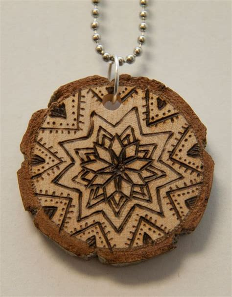 Handmade Mandala - mandala 10 18 00 via etsy pyrography wood burned