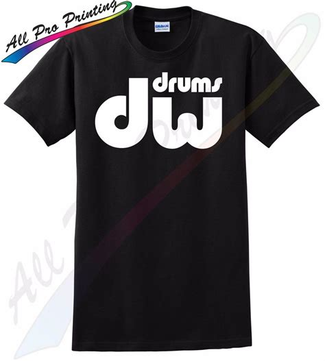 Tshirt Dw dw drums t shirt musician college gift cymbals drummer