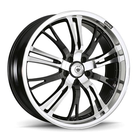 konig center cap size konig unknown gloss black with mirror machined center