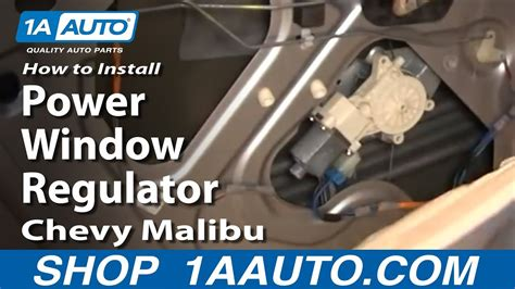 install replace rear power window regulator chevy