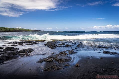 picture photo black sand beach at punaluu big island punalu u on the big island black sand beach and sea turtles