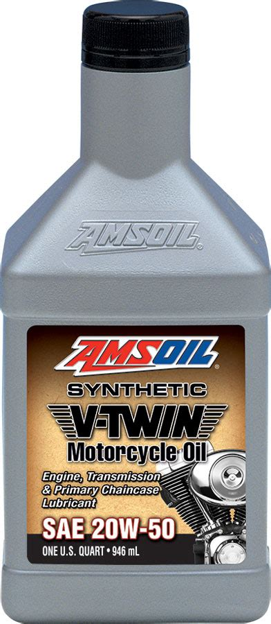 AMSOIL 20W 50 Synthetic V Twin Motorcycle Oil (MCV) 20W50