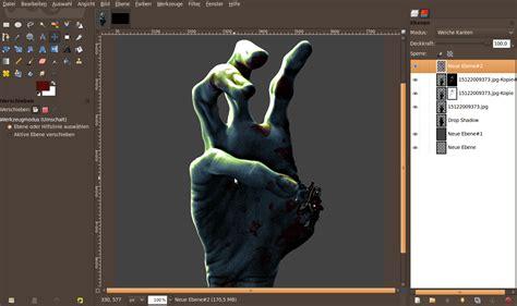 tutorial gimp zombie the creepy zombie hand of death tutorials gimpusers com