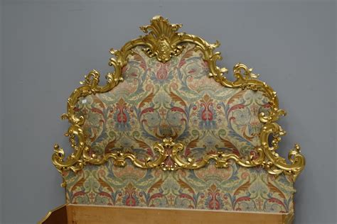 letto luigi xv letto matrimoniale intagliato dorato finemente oro foglia