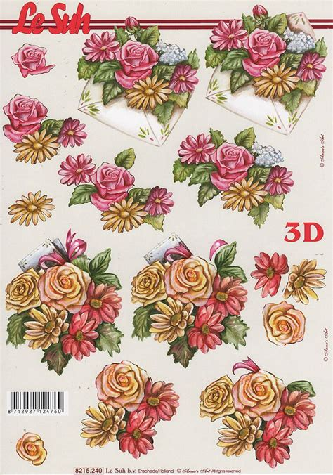 Flower Decoupage - 17 best images about 3d flowers on pretty