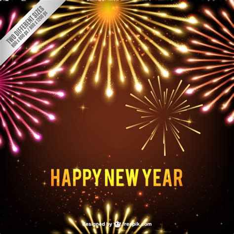new year and yellow new year fireworks background in yellow and pink tones