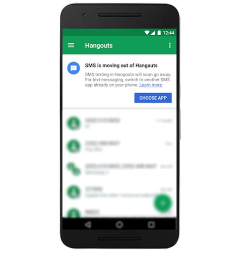 android sms hangouts for android will no longer sms support after 22nd may