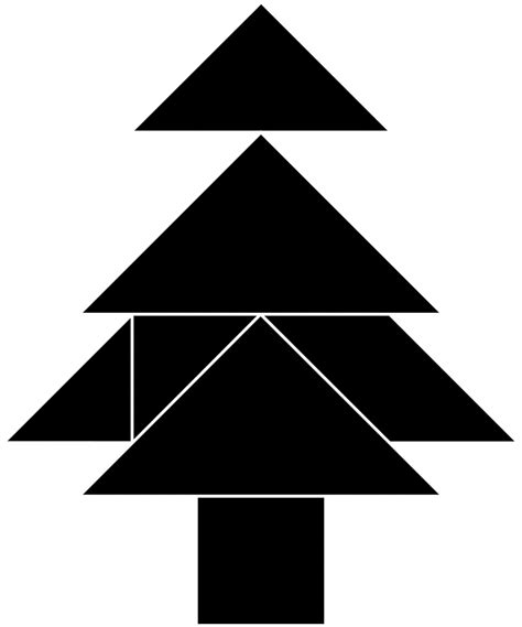 tangram christmas tree pictures to pin on pinterest