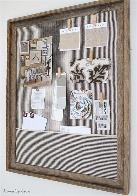 1960s wall home decor pin up bulletin board framed cork bulletin board a quick easy diy driven