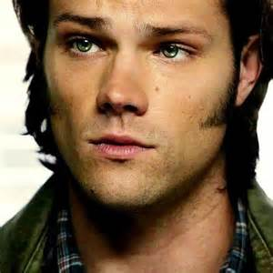 sam winchester eye color sam and puppy i still really dislike these sideburns