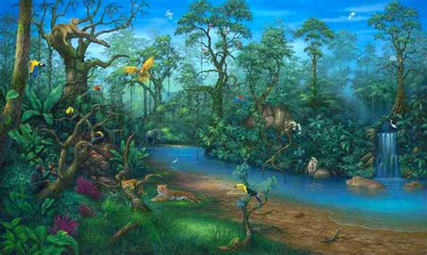 rainforest wall murals jungle dreams wall mural a mighty
