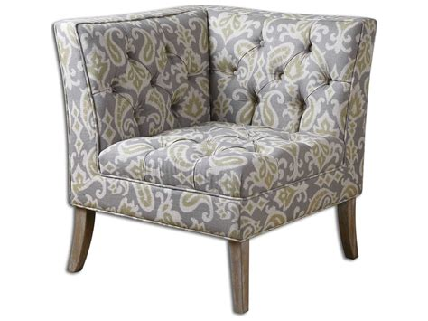 Corner Accent Chair Uttermost Meliso Tufted Corner Accent Chair 23167