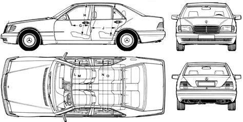Promo Sticker Vinyl 3d Timor Gt car blueprints 1994 mercedes w140 sedan blueprint