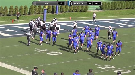 bentley football bentley football vs aic oct 17 2015 highlights