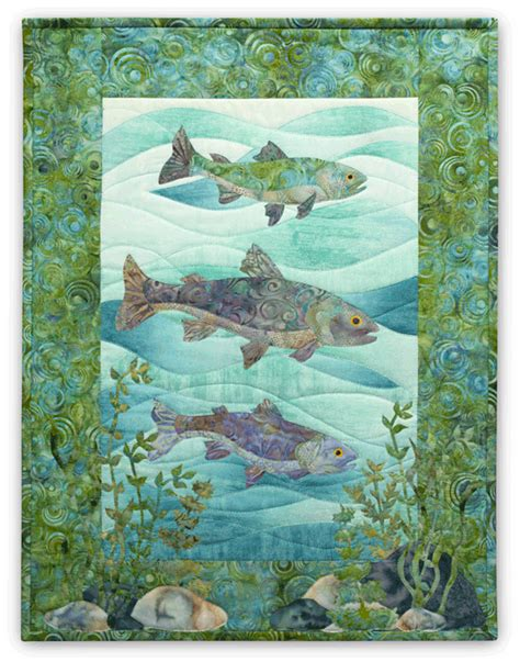 Mckenna Quilt Patterns by Naturally Mckenna Pine Needles Swim Team Fish Fishing