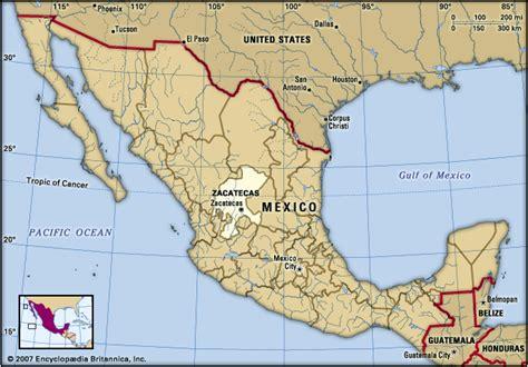 map of mexico zacatecas zacatecas encyclopedia children s homework help