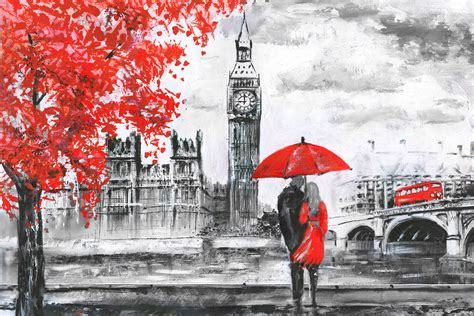 London Romance Wallpaper For Decor