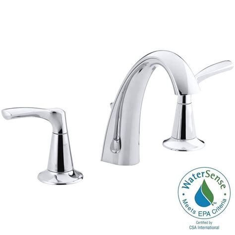widespread kitchen faucet kohler mistos 8 in widespread 2 handle water saving bathroom faucet in polished chrome k r37026