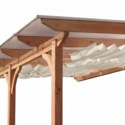 toit de terrasse bois massif douglas 310x350cm karibu