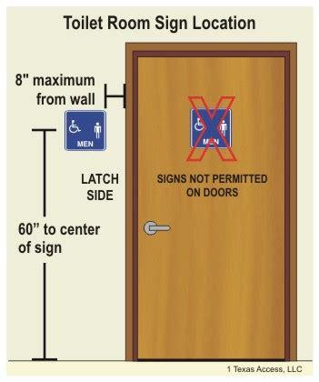 handicap height requirements tas ada illustrations