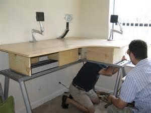 standing desk mod the 43 ikea galant standing desk mod jorge s stompbox