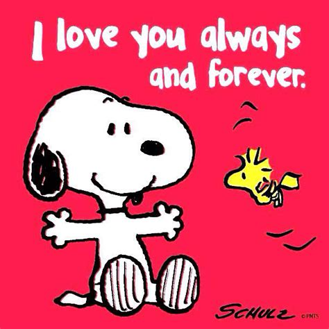 imagenes i love you forever snoopy quot i love you always and forever quot l loe