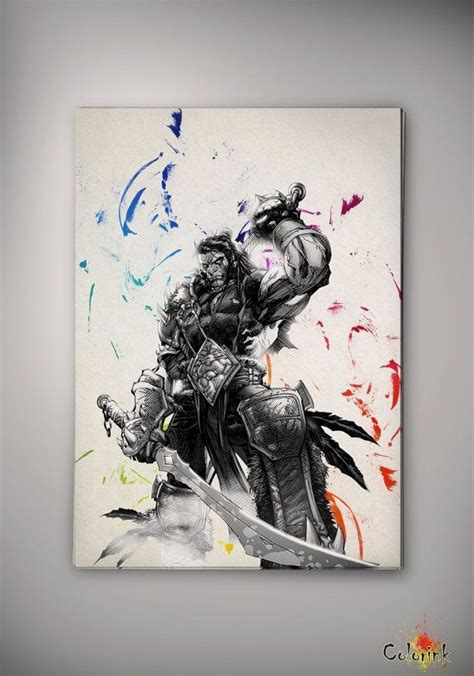 world of warcraft watercolor illustrations print 8x10