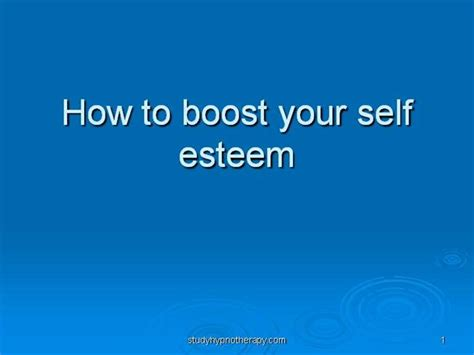self esteem powerpoint templates how to boost your self esteem authorstream