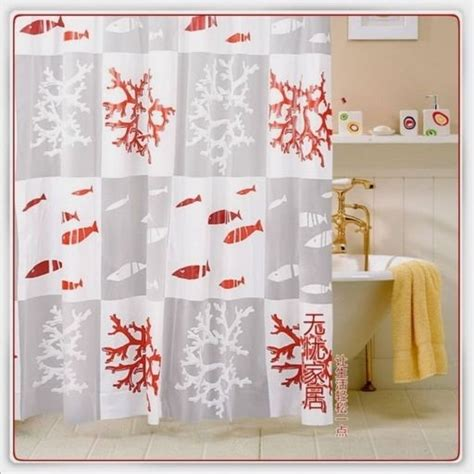 coral reef shower curtain red coral reef fish shower curtain mediterranean