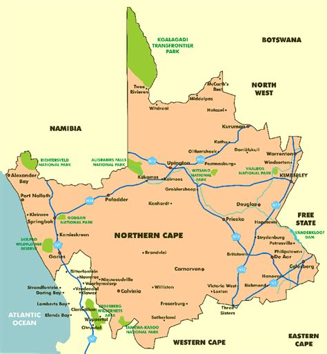 Mba Of Northern Colorado by Namaqualand And Northern Cape Map Namaqualand South Africa