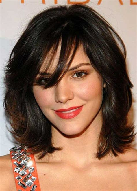 medium haircuts for thick hair and faces 20 haircuts with bangs for faces hairstyles