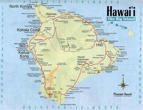 map of usa and hawaii detailed map of big island of hawaii with roads vidiani