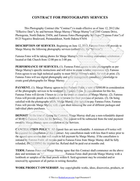 wedding photography proposal template wedding photography contract