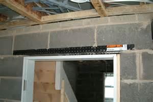 lintel door patio opening with cavity lintel