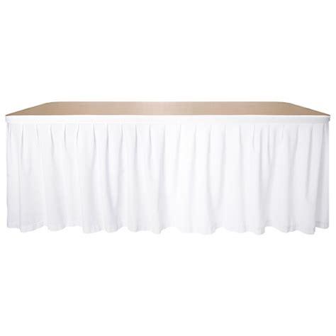 Linen Table Skirts by White Linen Table Skirt 3m