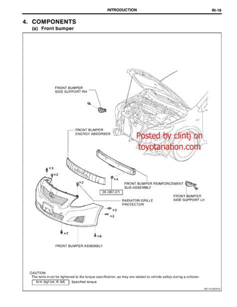 diagram how to install front fender of 2009 bentley azure front bumper diagram toyota corolla diy