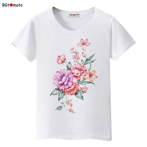 flower design shirts bgtomato beautiful flower printing lovely t shirts woman s