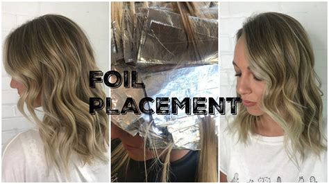 foil placement blonde rootfade foil placement money pieces and root smudging youtube