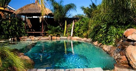 Backyard Pool Cabana Pictures Balinese Lagoon Pool Good Water Colour Outdoor