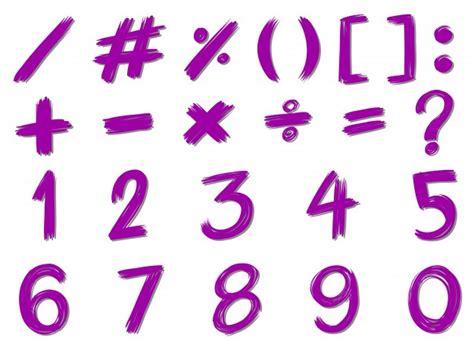 imagenes de simbolos y signos n 250 meros y signos en color p 250 rpura descargar vectores gratis
