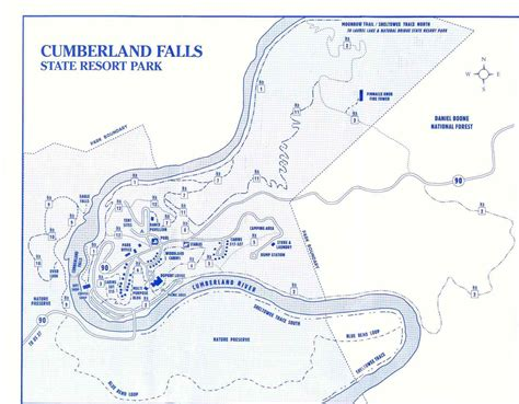 kentucky falls map cumberland falls kentucky