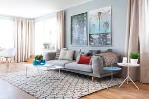 Purple Sofa Website Light Blue Interior Design In Scandinavian Style