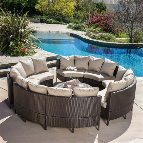 Outdoor Patio Furniture Stores Shop Best Selling Home Decor Newton 10 Wicker Patio Conversation Set At Lowes