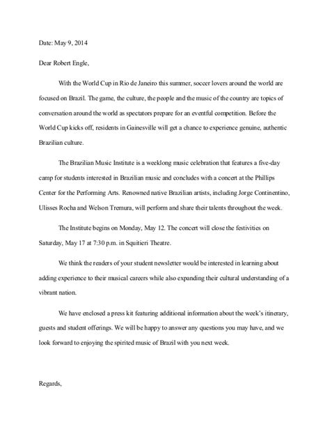 pitch letter format bmi sle pitch letter