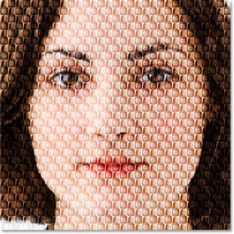 mosaic pattern in photoshop photoshop effects fill a photo with more photos