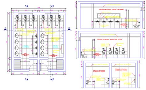 toilet layout dwg public toilet project detail dwg file