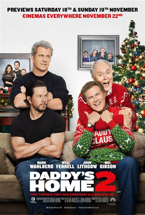 new movies trailers daddys home 2 by will ferrell and mark wahlberg daddy s home 2 poster teaser trailer